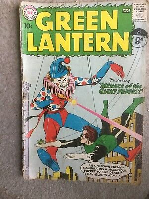DC Comics GREEN LANTERN  No 1 Menace of the Giant Puppet   silver age