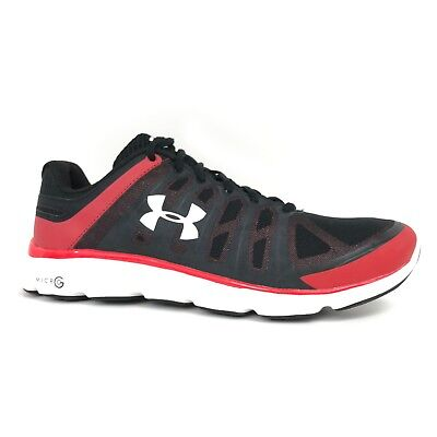 a42c819c77f09 UNDER ARMOUR MICRO G Pulse Grit Mens Black Yellow Velocity Running ...