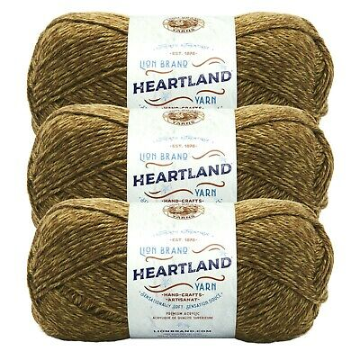 Lion Brand 136-353 Heartland Yarn-Black Canyon Tweed