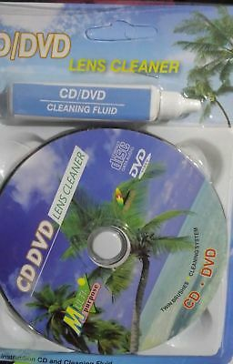 DVD Head Dirt Cleaner Restore Kit Disc Lens Laser +Cleaning fluid 1 Set