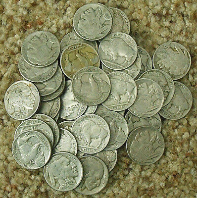 Roll of Buffalo Nickels. All Have Readable Dates.