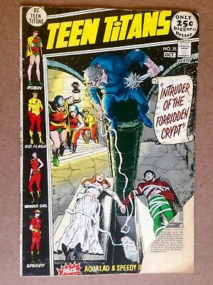 "Teen Titans #35 (1971)  ""Intruder Of The Forbidden Crypt""!  AFFORDABLE COPY!"