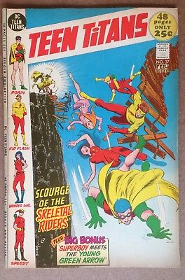 Teen Titans #37 (1972) Scourge Of The Skeletal Riders! Nice Copy PRICED TO SELL!