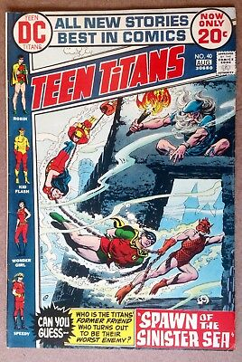 "Teen Titans #40 (1972) ""Spawn Of The Sinister Sea""!  Nice Copy!  PRICED TO SELL!"