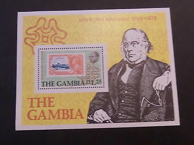 Gambia 1979 Death Cent Rowland Hill MS420 MS miniature sheet MNH UM unmounted