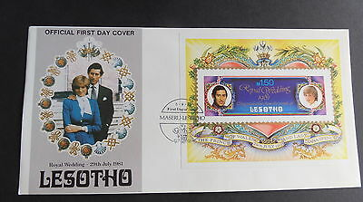 Lesotho 1981 Royal Wedding FDC First Day Cover MS Miniature Sheet IMPERF