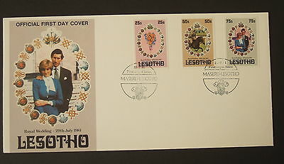 Lesotho 1981 Royal Wedding FDC First Day Cover IMPERF Prince Charles Diana