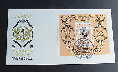 Ghana 1981 Royal Wedding MS Miniature Sheet FDC First Day Cover