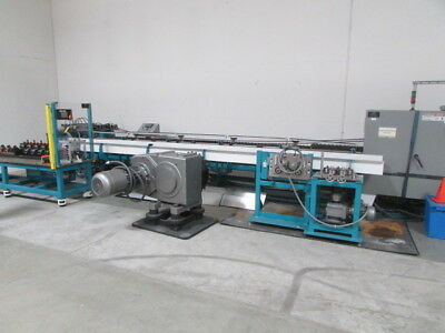 Double Inline Tube Draw Bench, Feeders, Pointers, Straightener, Used in R&D 2010