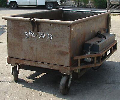 Cart, Wheeled, Dough Trough 40 Cubic Foot with Hydraulic Lift & Gate-USED