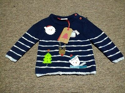 Baby Boys Clothes BRAND NEW WITH TAGS Baby Boys Next Christmas Jumper 3-6months