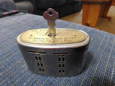 "Vtg Coin Bank Automatic Recording Safe Branch Bank ""Auto Soler Co"" Atlanta Ga"