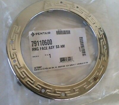 Pentair 79110600 SS Face Ring Assembly Replacement Pool and Spa Light, New