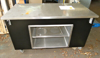 Mobile Stainless Steel Food Service Cart with Storage, Kitchen Prep Table Stand
