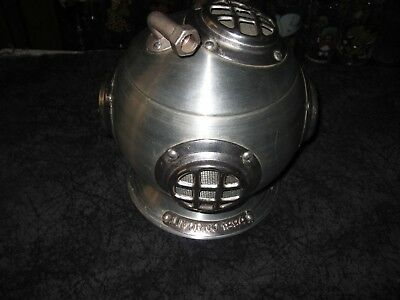 RARE Vntg 70's Pentertone U.S.S. Gilbeys Deep Sea Diver Helmet Ice Bucket Cooler