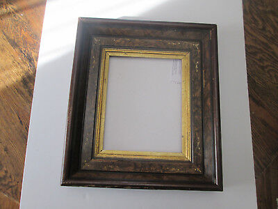 Antique Aesthetic Eastlake Deep Shadow Box Walnut Picture Frame Carved 2273