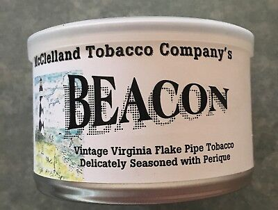 McClelland Beacon pipe tobacco tin, unopened.
