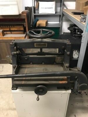 Industrial paper cutter Chandler & Price Co.