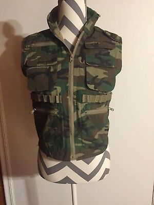 Rothco Ranger Army Vest JR,G.I. Boys Size Med With zip out HAT