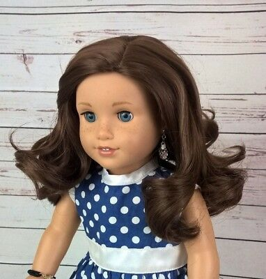 10-11 Custom Doll Wig fit Blythe-American Girl-1/4 Size CHARRED BRUNETTE  bn1