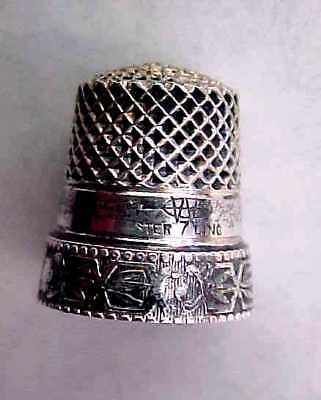 Webster Co. Sterling Silver Thimble - Signed - c1890s - Size 7