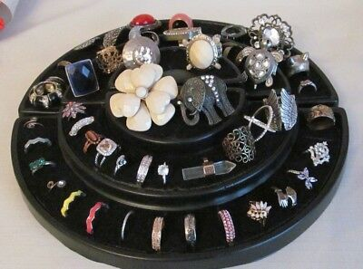 Lot Of 45+ Vintage To Now Assorted Rings