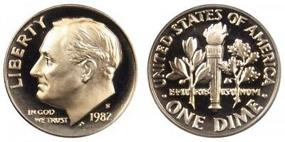 1982-S Gem Proof Roosevelt Dime Deep Cameo Clad FREE SHIPPING