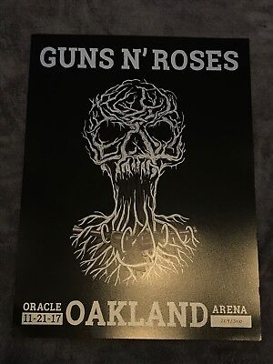 Rare Guns N Roses Lithograph Not In This Lifetime Oakland 204/300 11/21/17