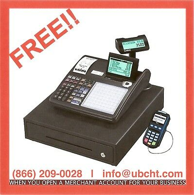 Casio Cash Register ~ FREE~ w/ built in Credit Card Machine ~ Account Required