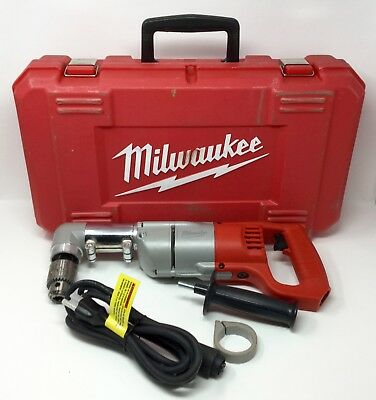 "Milwaukee 1107-1 1/2"" Right Angle Drill with Case & Handle"