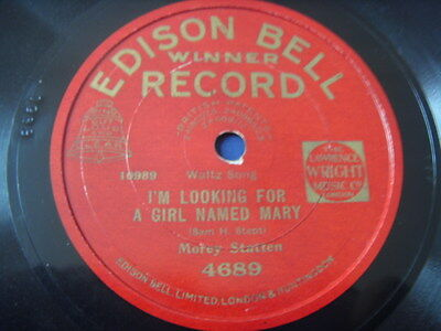 """10"""" Morey Statten I´m looking for a girl.. / Bobby Gray Little brown Baby 78rpm"""