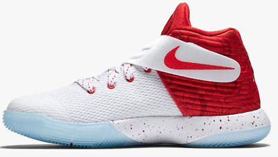 Nike Kyrie 2 GS Shoes Low White Red Candy Cane Christmas New $100 Boys Youth 5y