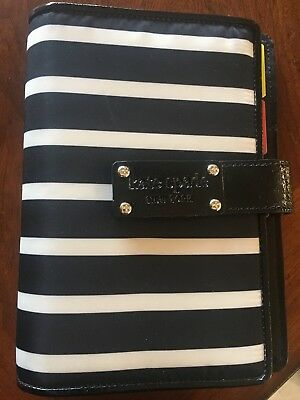 Kate Spade Personal Planner Navy And White Striped Agenda