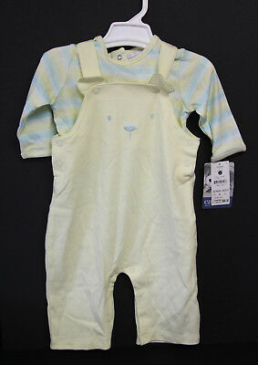6-9 Months - Carters 2 Piece Overall Set - NWT- Yellow & Green Colors
