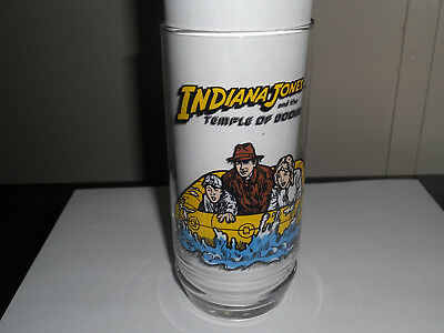 Indiana Jones And The Temple Of Doom 7up Glass 1984 Short Round Willie Indy New.