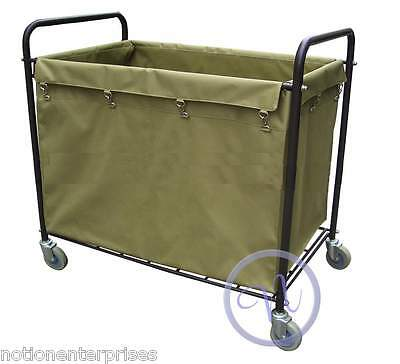 Replacement Bag For Laundry Hamper Truck / Linen Trolley Cart (ONLY BAG)