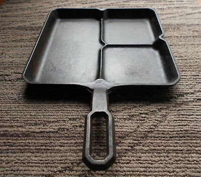 Vintage~  GRISWOLD Cast Iron COLONIAL BREAKFAST Skillet Pan 666 ~ Small Logo