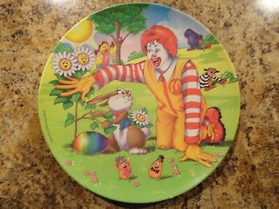 """Mcdonald's Spring/easter Plate 2001~Ronald & Pals~9 1/2""""~Nice!"""