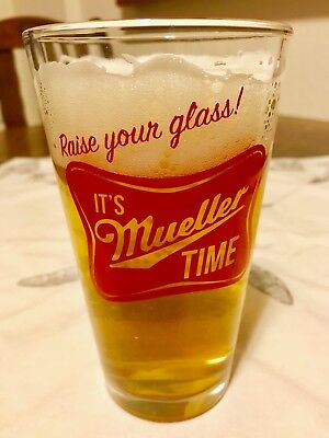 It's Mueller Time Pint Glass