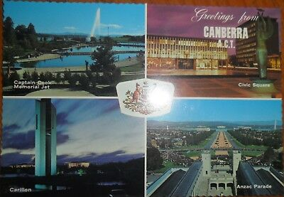 Souvenir postcard - Greetings from Canberra ACT