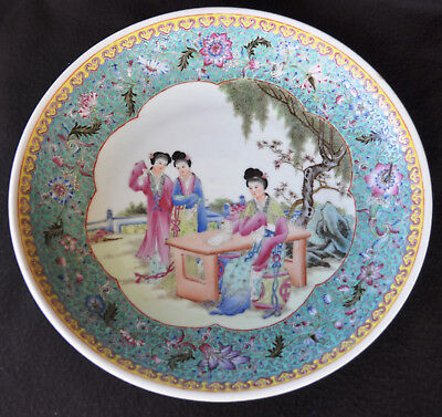 19Th Century Antique Chinese Porcelain Plate Marked