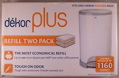 Dekor Plus 1 box of Two Refill For Diaper Pail