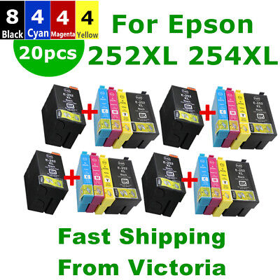 20X Generic Ink Cartridge 252 252XL 254XL 2531XL For Epson WF3620 3640 7610 7620