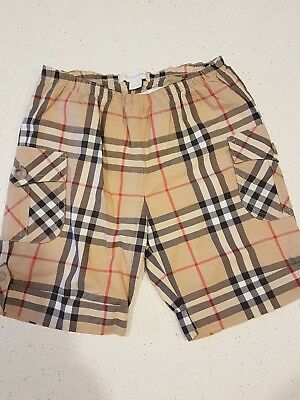 Burberry baby cargo shorts, check, size 9 months