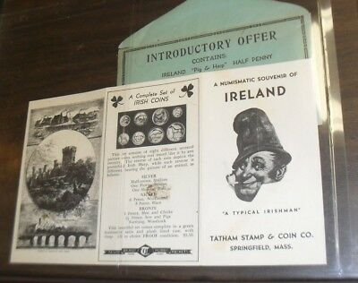 Tatham Stamp and Coin of Springfield Massachusetts pamphlet about Irish coins