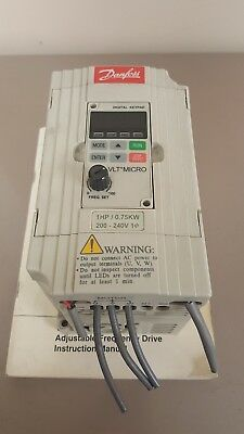 Danfoss VLT Micro 176F7301 AC Speed Control Single Phase In Three Phase Out