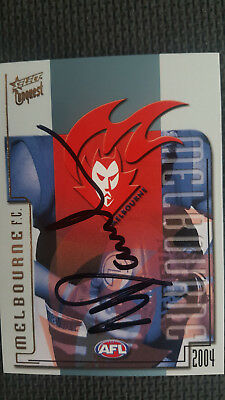 Neale Daniher Melbourne Signed Logo Select 2004 Card