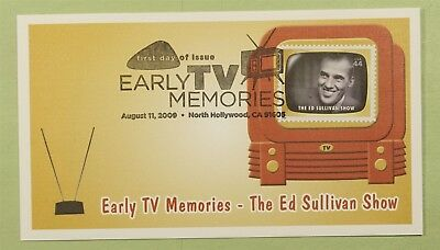 DR WHO 2009 FDC EARLY TV MEMORIES FLEETWOOD NORTH HOLLYWOOD CA b01405