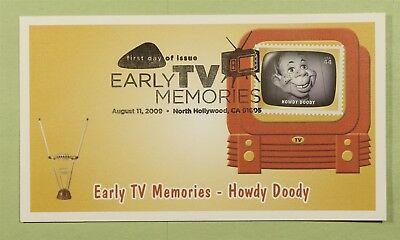 DR WHO 2009 FDC EARLY TV MEMORIES FLEETWOOD NORTH HOLLYWOOD CA b01411