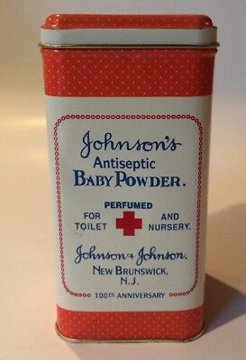 Johnson's Antiseptic Baby Powder Advertising Tin 100th Anniversary Replica Can